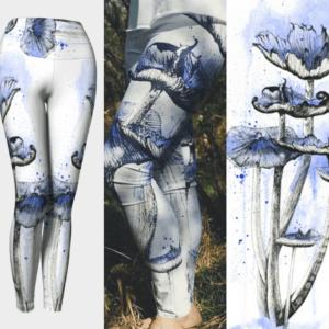 Blue Mushroom Leggings