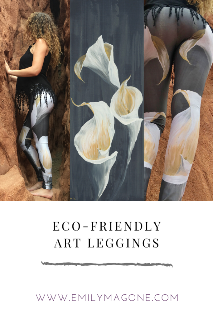 Calla Lily Leggings by Emily Magone