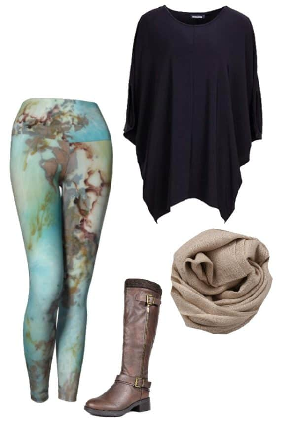 Leggings Copper Abstract Art Leggings Outfit Ideas 1