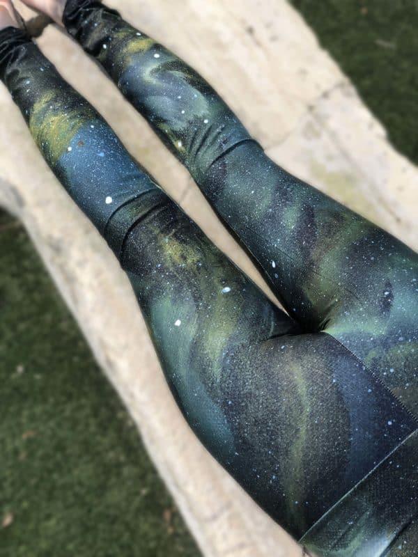 Leggings Green Galaxy Leggings 17