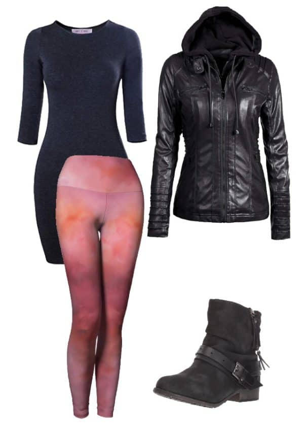 Leggings Pink Abstract Art Leggings Outfit Ideas 2 1