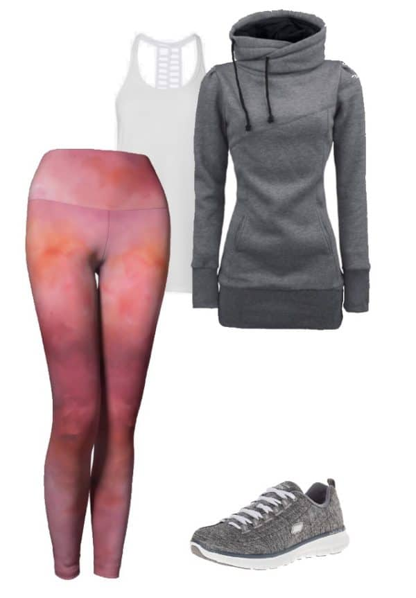 Leggings Pink Abstract Art Leggings Outfit Ideas 4 1