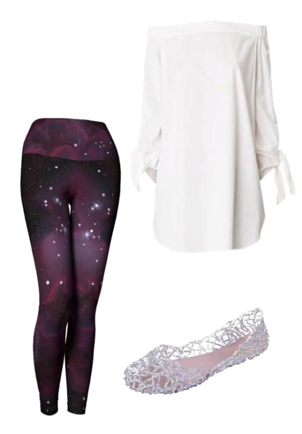 Leggings Purple Galaxy Leggings Outfit Ideas 1