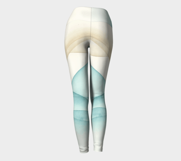 Leggings Sand and Sea Watercolor Leggings 1
