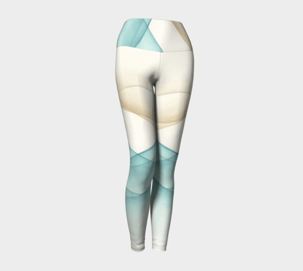 Leggings Sand and Sea Watercolor Leggings 2