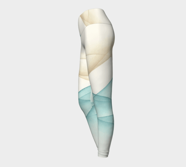 Leggings Sand and Sea Watercolor Leggings 4