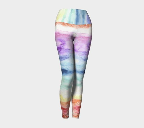 Leggings Watercolor Rainbow Leggings 4