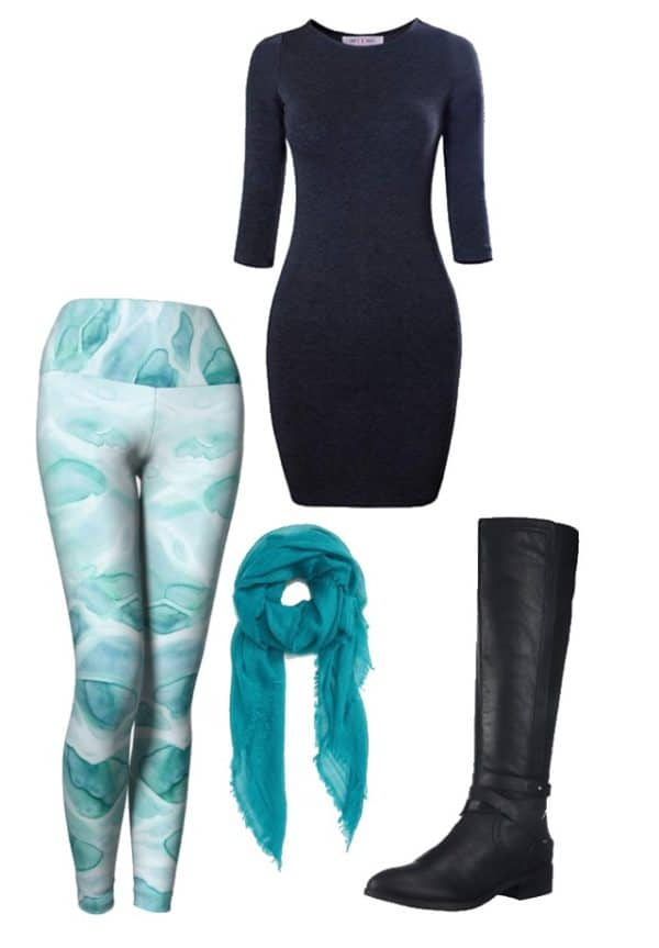 Leggings Watercolor Sea Leggings Outfit Ideas 1