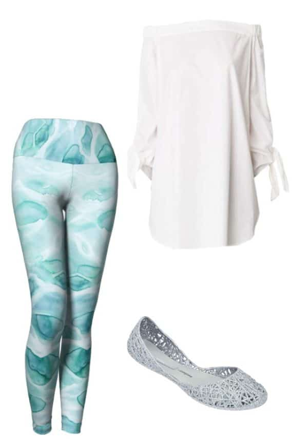 Leggings Watercolor Sea Leggings Outfit Ideas 3