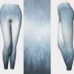 Ombre Blue Forest Leggings
