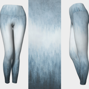 Ombre Blue Forest Leggings