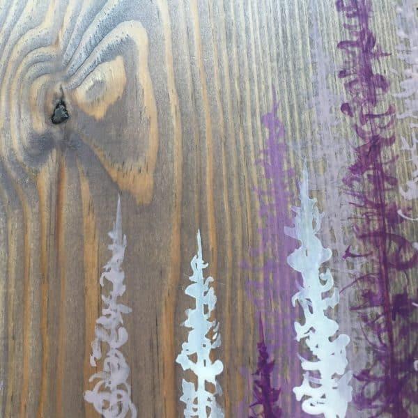 Original Painting Trees on Wood 12 7