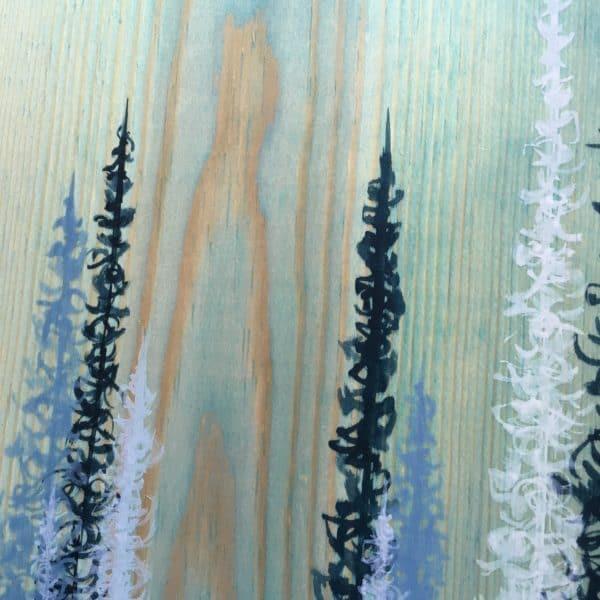 Original Painting Trees on Wood 15 8