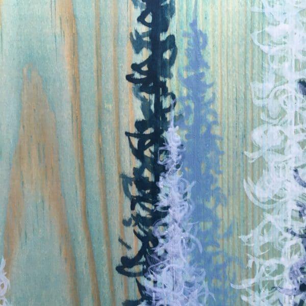 Original Painting Trees on Wood 15 9 1