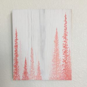 Original Painting Trees on Wood 16 4