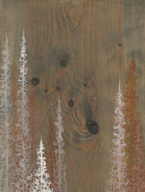 Original Painting Trees on Wood 4 1