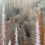 Original Painting Trees on Wood 4 4