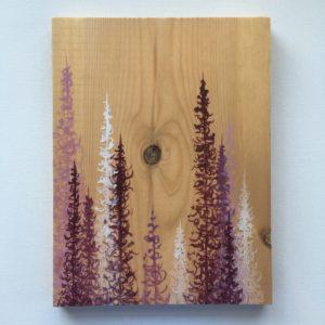 Original Painting Trees on Wood 5 2