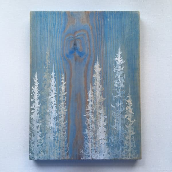 Original Painting Trees on Wood 6 1