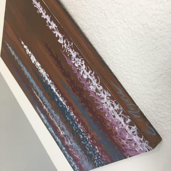 Original Painting Trees on Wood 8 1