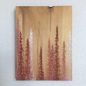 Original Painting Trees on Wood 9 3