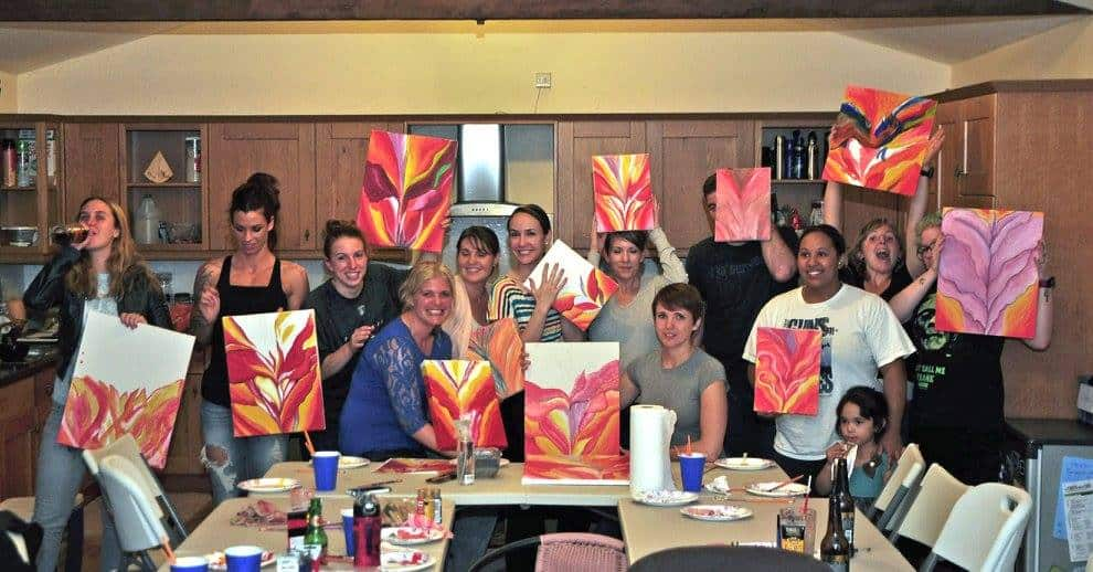 Painting Party Red Canna Party