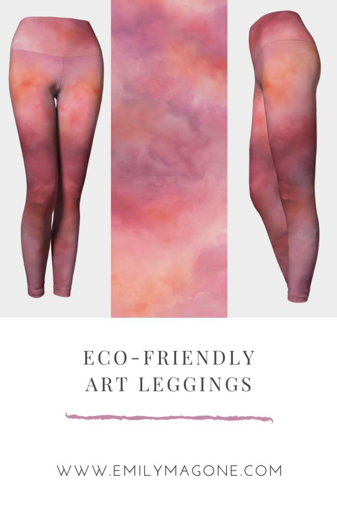 Pink Abstract Art Leggings