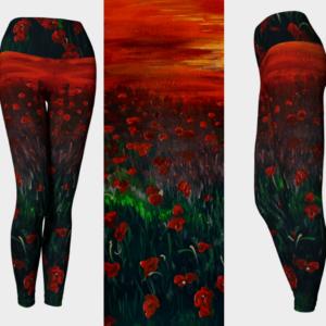 Poppy Field Leggings
