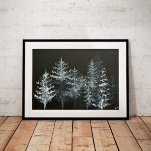 Prints Black Trees Print 6 1