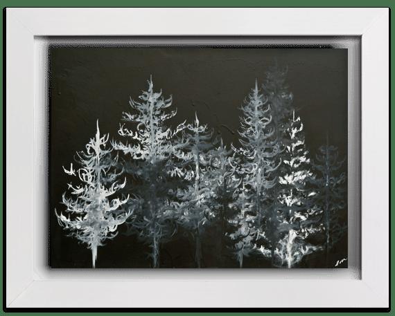 Prints Black Trees Print 7 1