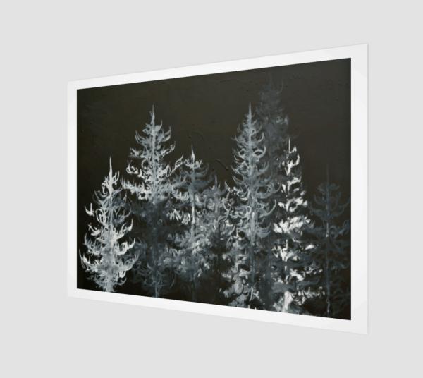 Prints Black Trees Print 8 1