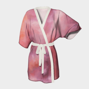 Robe Pink Abstract Kimono Robe 2