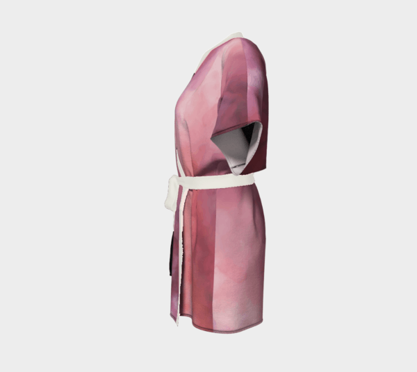Robe Pink Abstract Kimono Robe 3 1