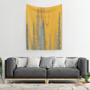 Trees on Wood Tapestry