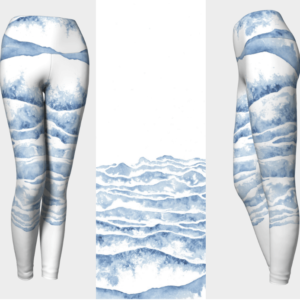 Watercolor Waves Leggings